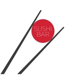 Sushi bar food logo template vector image vector image