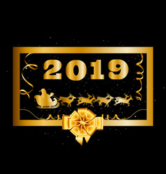 2019 happy new year and christmas background with vector image
