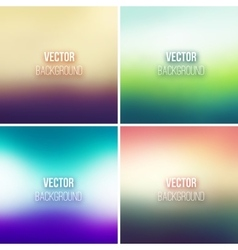 Abstract colorful blurred backgrounds set vector image