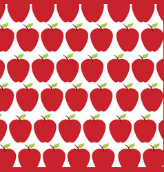 apple fruit pattern background vector image