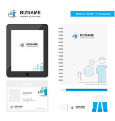 avatar business logo tab app diary pvc employee vector image