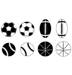Balls black vector