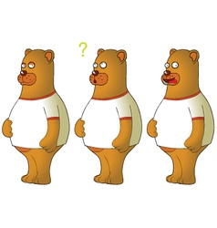 Bears with expressions vector