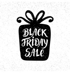 black friday sale unique banner hand lettering vector image