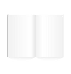 blank magazine spread on white background vector image