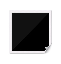 Blank photo frame with curved corner vector image