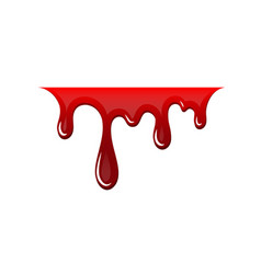 Blood drip 3d drop blood isloated white vector