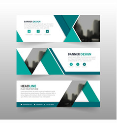 blue triangle corporate business banner template vector image