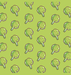Brocolis pattern background vector
