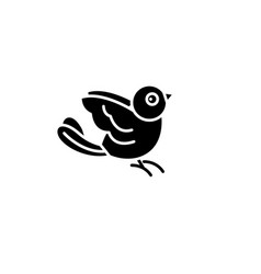 bullfinch black icon sign on isolated vector image