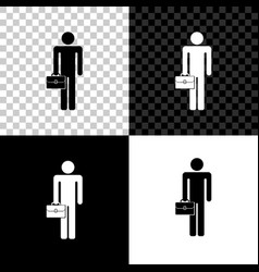 businessman man with briefcase icon isolated on vector image