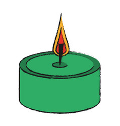 candle flame isolated vector image