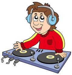 cartoon dj boy vector image
