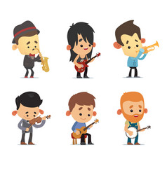 cartoon musicians vector image