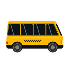 City road yellow taxi bus transport vector