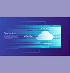 Cloud services remote data storage concept vector
