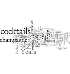 Cocktails for a new years eve party vector