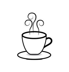 Coffee cup on white background vector