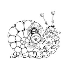 Contour mechanical snail vector