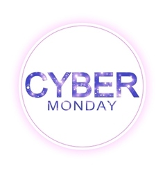 Cyber Monday Sale sign template Promotional vector image