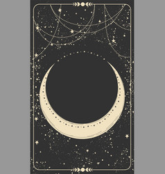 Dark space background for astrology witchcraft vector