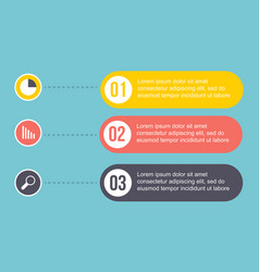 design business infographic step concept vector image
