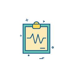 ecg report icon design vector image