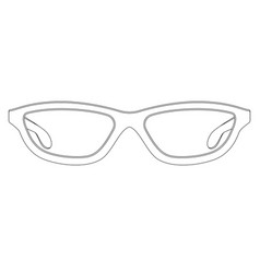 glasses outline sign vector image
