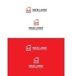 h house logo vector image