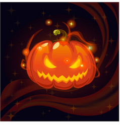 Halloween magic pumpkin vector