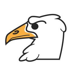 Head eagle vector