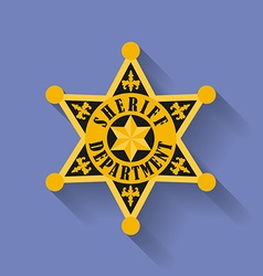 Icon of Police Sheriff badge Flat style vector
