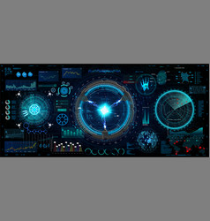 innovation system hud ui elements collection vector image