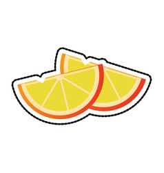 Lemon wedges icon image vector