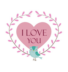 love design with owl vector image