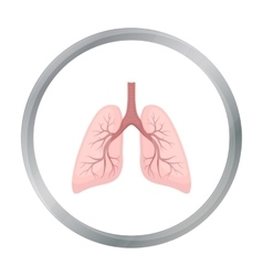 Lungs icon in cartoon style isolated on white vector image