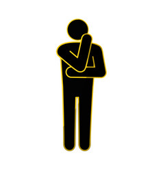 Man thinking icon vector