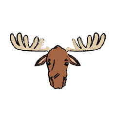 Moose extant species antler elk animal wild image vector