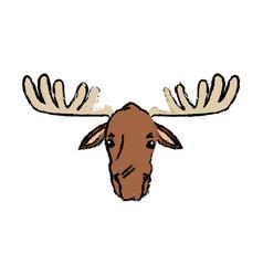 moose extant species antler elk animal wild image vector image