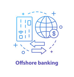 offshore banking concept icon vector image