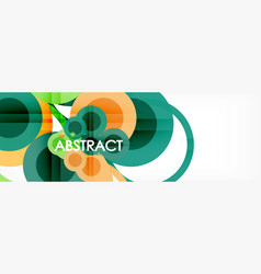 overlapping circles design background vector image