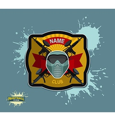 paintball logo emblem paintball guns and Wings vector image