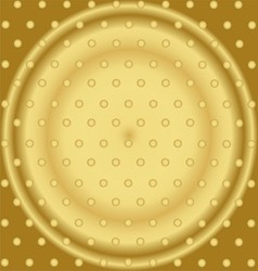 Pattern With Mixed Small Spots On Golden Color vector