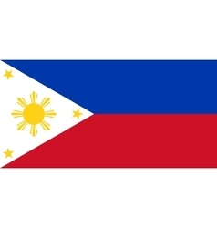 Philippine flag in correct proportions and colors vector image