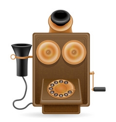 Phone old retro icon stock vector