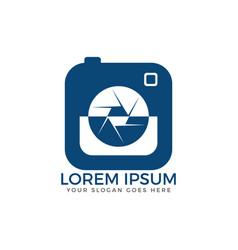 photo camera logo design vector image