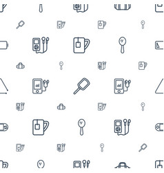portable icons pattern seamless white background vector image