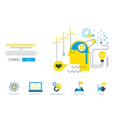 Positive energy concept vector image