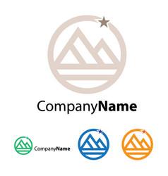 pyramid logo design template vector image