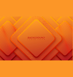 ractangle orange background with 3d style vector image